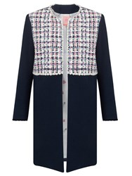Vilagallo Helen Tweed Jacket Navy