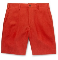 Anderson And Sheppard Linen Shorts Orange