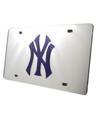 Rico Industries New York Yankees License Plate Silver