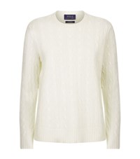 Polo Ralph Lauren Cashmere Cable Knit Sweater Female White