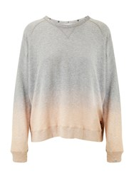 Maison Scotch Dip Dye Sweatshirt Grey