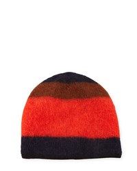 Rag And Bone Petra Striped Beanie Fiery Red Rag And Bone