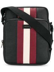 Bally Tanis Stripe Detail Messenger Bag Black