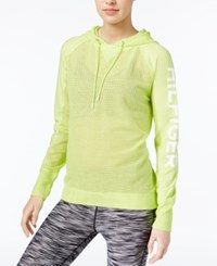 Tommy Hilfiger Mesh Hoodie Only At Macy's Key Lime