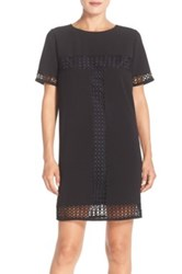 Felicity And Coco Embroidered Shift Dress Black