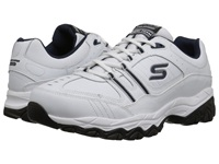 Skechers Afterburn M. Fit Strike On White Navy Men's Lace Up Casual Shoes