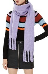 Topshop Heavy Brushed Scarf Lilac