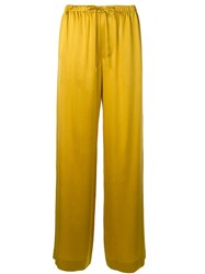 Vince Wide Leg Trousers Yellow