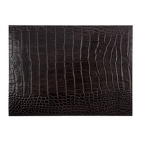 Amara Gator Recycled Leather Placemat Dark Chocolate