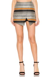 Blaque Label Stripe Wrap Skort Orange