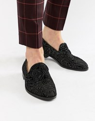 House Of Hounds Hawk Loafers In Black Chiffon
