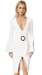 Nicholas Long Sleeve Blazer Dress White