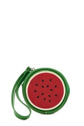 Forever 21 Watermelon Zip Coin Purse Red Multi