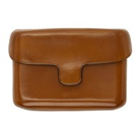Christophe Lemaire Tan Leather Card Case