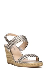 Via Spiga Women's Indira Wedge Sandal Rose Gold Leather