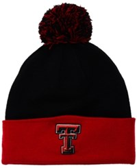 Top Of The World Texas Tech Red Raiders 2 Tone Pom Knit Hat