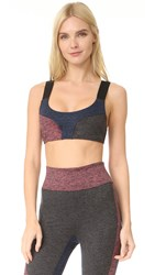 Free People Movement Color Blocked Dylan Sports Bra Orange Combo