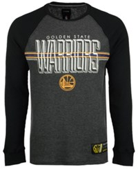 Unk Men's Golden State Warriors Co Captain Thermal Long Sleeve T Shirt Gray
