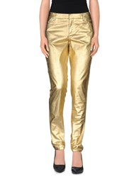 Oblique Trousers Casual Trousers Women Gold