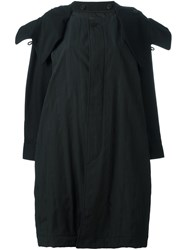 Y 3 Oversized Parka Coat Black