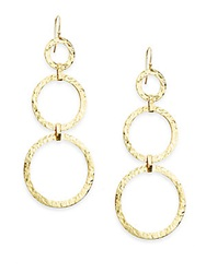 Ippolita Glamazon 18K Yellow Gold Hammered Disc Drop Earrings