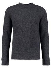 Filippa K Jumper Dark Grey Mottled Dark Grey