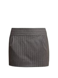 Alexandre Vauthier Pinstriped Mini Skirt Grey Multi