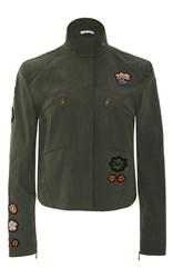 Tomas Maier Tropical Patch Military Jacket Olive