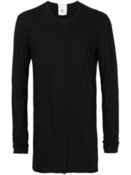 Lost And Found Rooms Mesh Insert Longsleeved T Shirt Men Cotton M Black