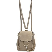 Chloe Grey Mini Faye Backpack