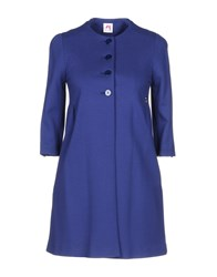 Scee By Twin Set Overcoats Blue