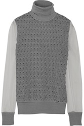 Missoni Paneled Wool Blend Turtleneck Sweater