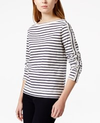 Maison Jules Striped Boat Neck Top Only At Macy's