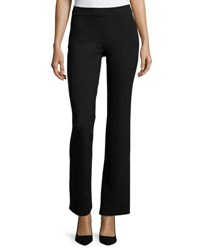 Max Studio Flare Leg Heavy Ponte Pants Black