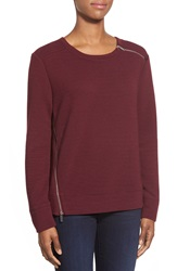 Dex Shoulder And Side Zip Top Wine