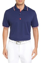 Bobby Jones Men's Xh20 Solid Stretch Golf Polo Summer Navy