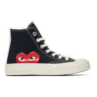 Comme Des Garcons Play Black Converse Edition Half Heart Chuck 70 High Sneakers