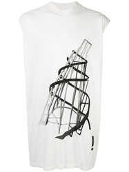 Rick Owens Drkshdw Graphic Shirt White
