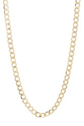 Rcg 14K Yellow Gold Curb Chain 22' Necklace Metallic