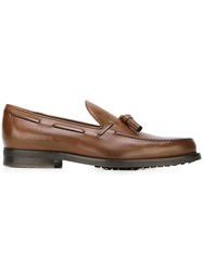 Tod's Tassel Loafers Brown
