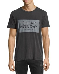 Cheap Monday Graphic Logo Jersey Tee Black