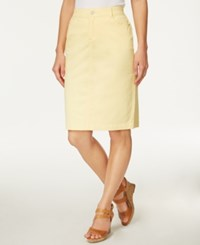 Charter Club Denim Pencil Skirt Only At Macy's Lemon Yellow