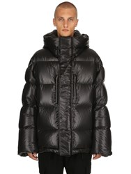 Juun.J Oversized Embroidered Nylon Down Jacket Black