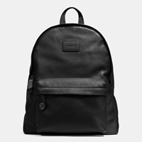 Coach Campus Backpack In Pebble Leather Black Black