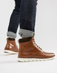Kg By Kurt Geiger Gregory Hybrid Sole Leather Cuff Boots Tan