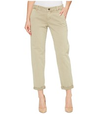 Liverpool Billy Trousers Rolled Cuff In Stretch Peached Twill In Pure Cashmere Pure Cashmere Women's Jeans Gray