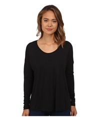 Rvca Once Again Top Black Women's Long Sleeve Pullover