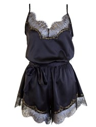 Playful Promises Penelope Playsuit Black Gold