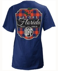 Royce Apparel Inc Women's Florida Gators Buffalo Plaid Big T Shirt Royalblue