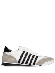 Dsquared New Runner Leather And Suede Sneakers White Black